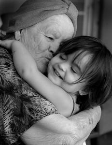 bigstockphoto_Child_Hugging_Her_Grandmother_5367